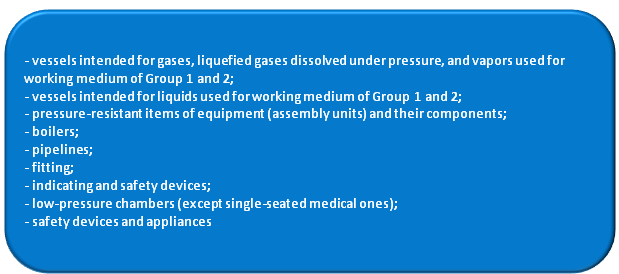 Technical Regulation on the Safety of Pressure Equipment (TR CU 032/2013)